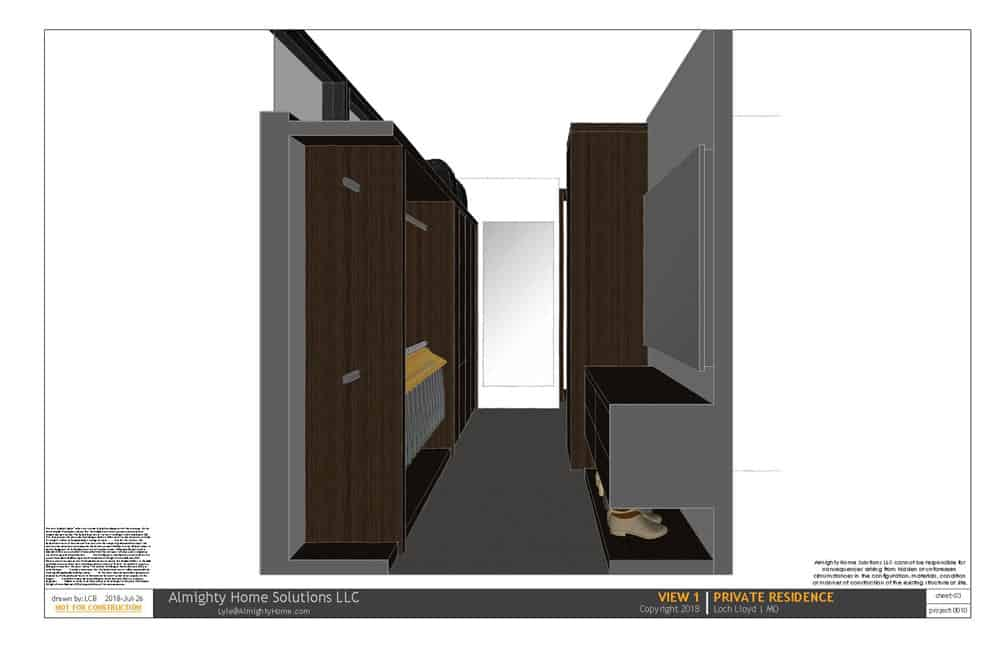 design build drawing closet 0010 On Th Boards 3