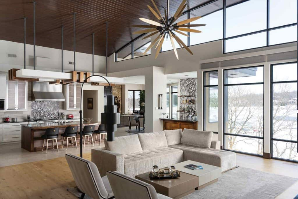 Loch Lloyd Home Great Room / Photo by Matthew Anderson Photography